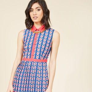 Modcloth Just my Typist Sleeveless Shirt Dress